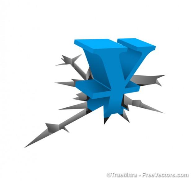 blue-symbol-of-the-yen_275-4280